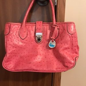Pink textured Dooney and Bourke Purse